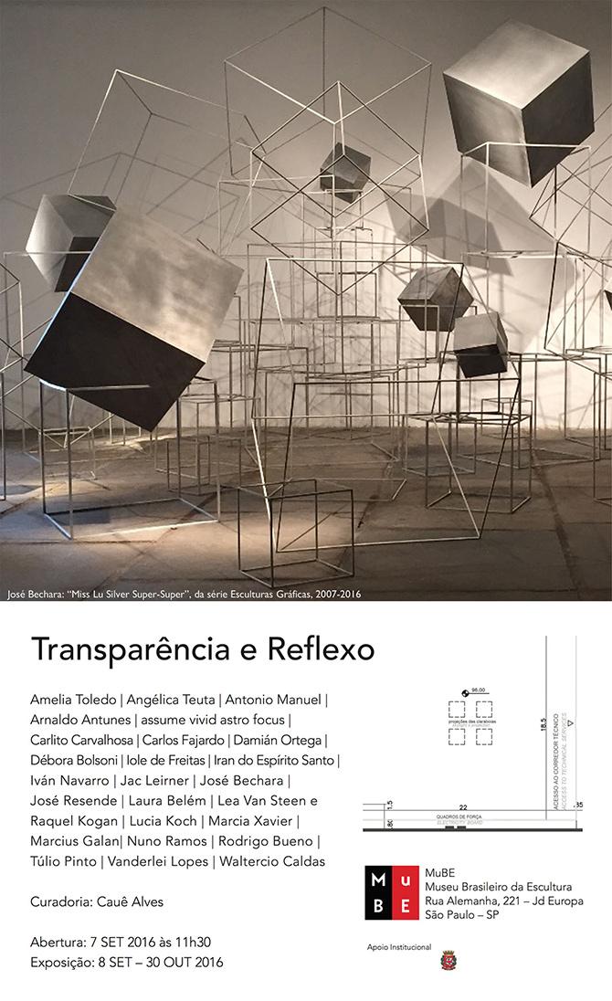 José Bechara | Transparência e Reflexo | MuBE – Museu Brasileiro da Escultura | São Paulo | Até 30 de outubro
