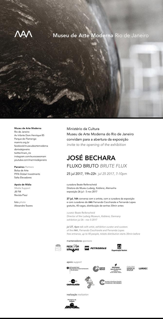 José Bechara | Fluxo Bruto | Museu de Arte Moderna do Rio de Janeiro | 25.07.17 a 05.11.17