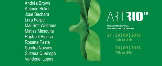 ArtRio 2018 | Matias Brotas arte contemporânea | STAND D12 | 26 a 30 de setembro | Marina da Glória | Rio de Janeiro | RJ